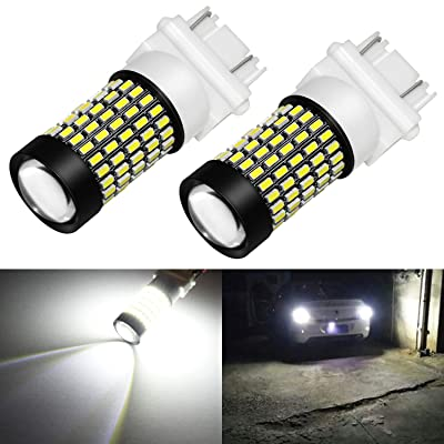 Phinlion 3157 LED Bulb White Super Bright 2800 Lumens 3014 103-SMD 3056 3057 3457 3757 4157 LED Bulbs with Projector for Back Up Reverse Brake Stop Tail Lights, 6000K Xenon White: Automotive