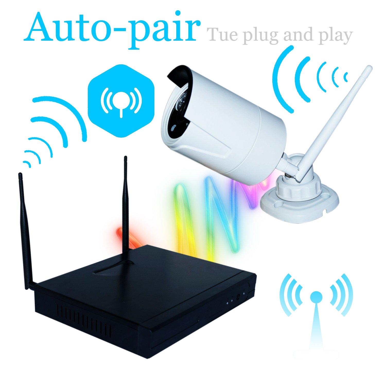 Amazon.com : Wavetown K9504 4CH HD Wireless NVR Security Camera ...