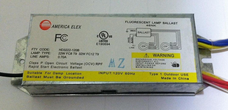 54 Watt Circline Ballast - HD3222-120B Americal Elex