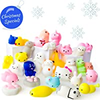 Mochi Squishy Toys - Lot De 30 Squishies - Chat Mochi Squichy, Panda Moelleux, Animaux Mochi - Sangle Porte-Clés Squishys