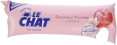Le Chat - Gel Lavant - Douceur Fruitée à la Pêche - Berlingot 250 ml - Lot de 6