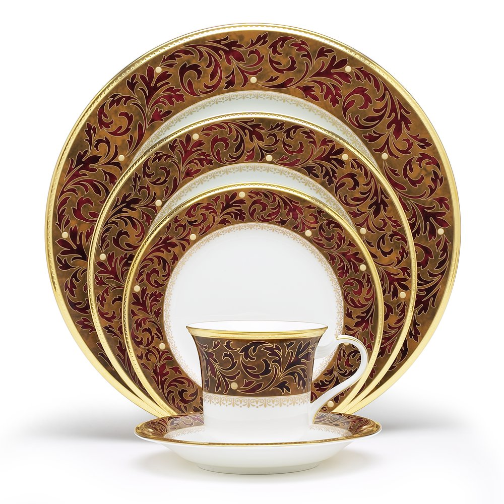 Amazon.com | Noritake Xavier Gold 5-Piece Place Setting ...