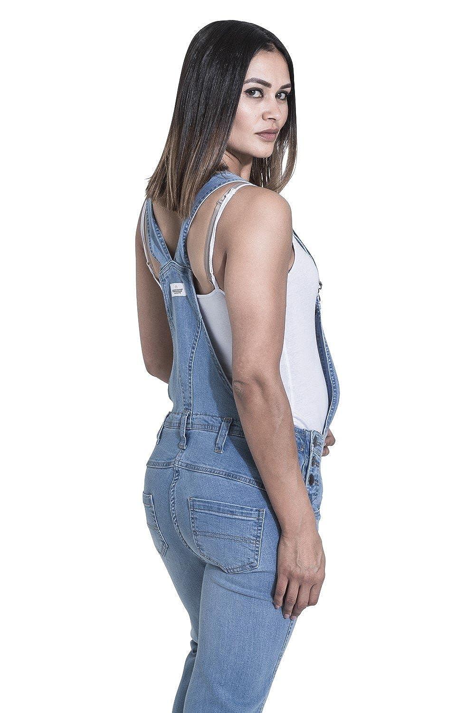 eadd968772df Amazon.com  USKEES Grace Maternity Bib Overalls - Palewash Denim Pregnancy  Jean  Clothing