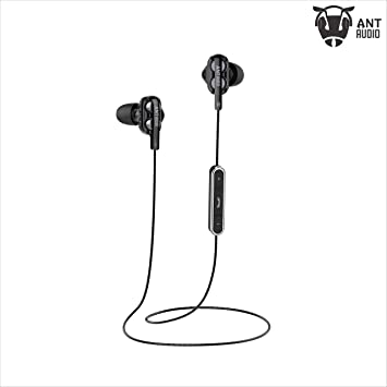 Ant Audio Doble H2 Dual Driver Wireless in-Ear Headset (Black) Headphones at amazon