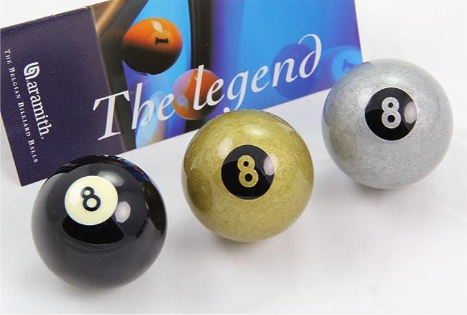 Exclusiva 5,08 cm Aramith Premier negro, plata y bola de Billar ...