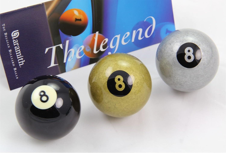 Aramith Premier Jeu de billes Noir, Argent &GOLDEN 8 Ball Queue de billard de balle simple