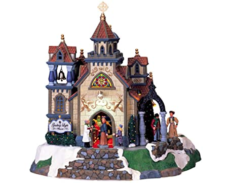 Lemax Sights & Sounds Village Collection Guiding Light Church #75602