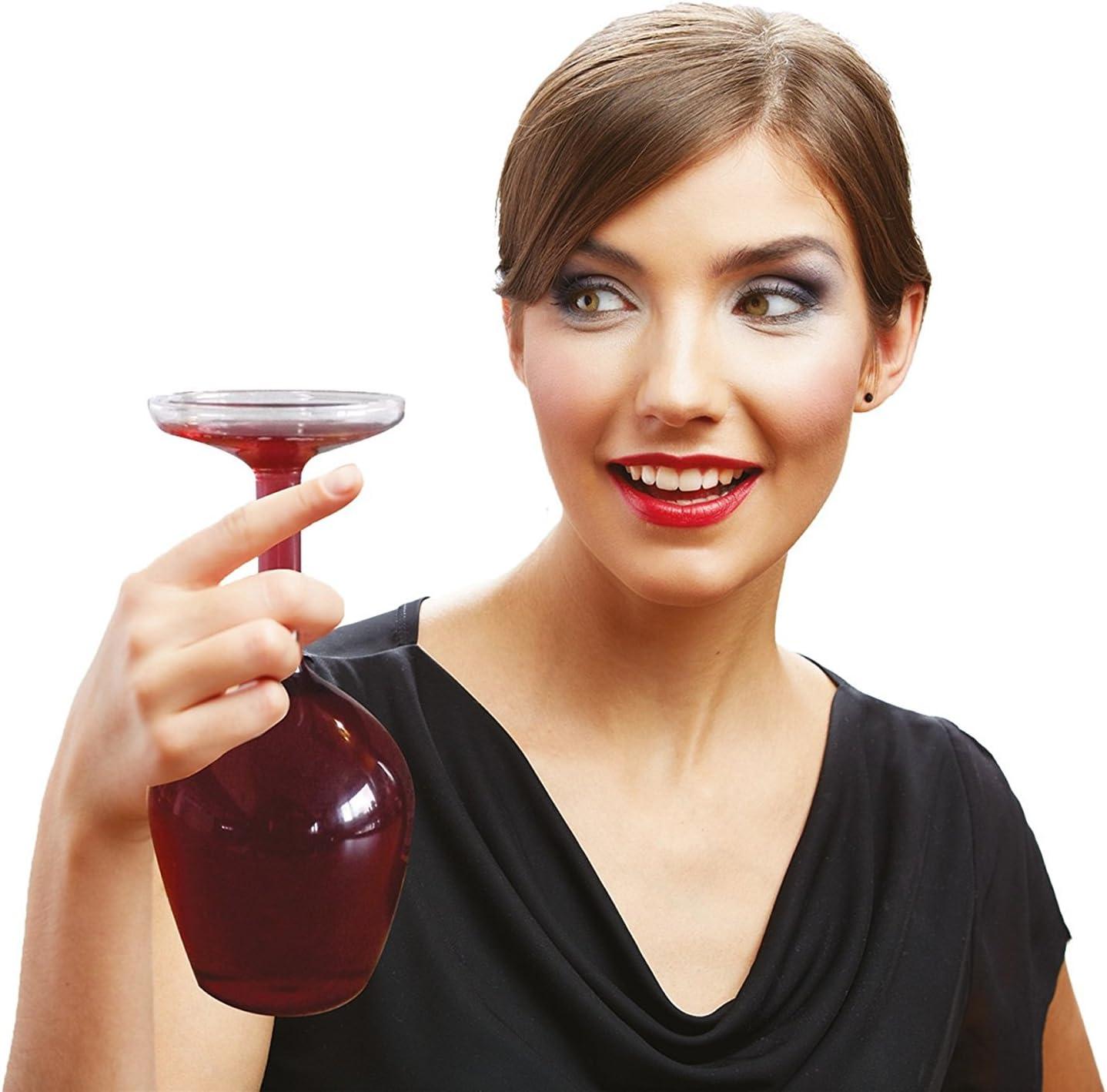 A testa in gi/ù gigante bicchiere di vino ~ il coraggio di essere diversi