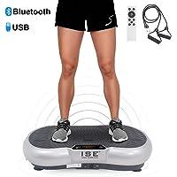 ISE Plateforme Vibrante Fitness, Grande Surface 67x36cm,99 Niveaux de Vitesses avec Bluetooth/USB/Télécommande,Idéal pour Fitness et Musculation   Perte de Poids Rapide,Max.150 KG,SY-328
