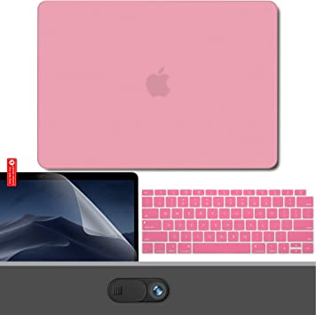 """4in1 Pink Frosted Matte Hard Case Cover for Apple Macbook AIR PRO 11/"""" 13/"""" A1708"""