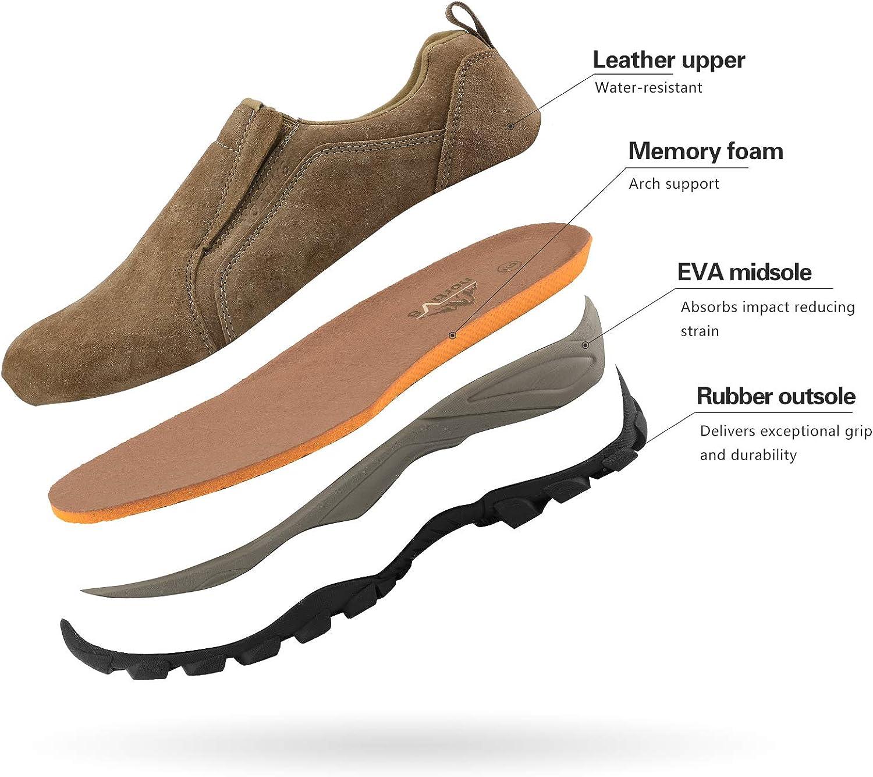 NORTIV 8 Mens Slip On Hiking Shoes Jungle Moc Breathable Outdoor Trailing Trekking Walking