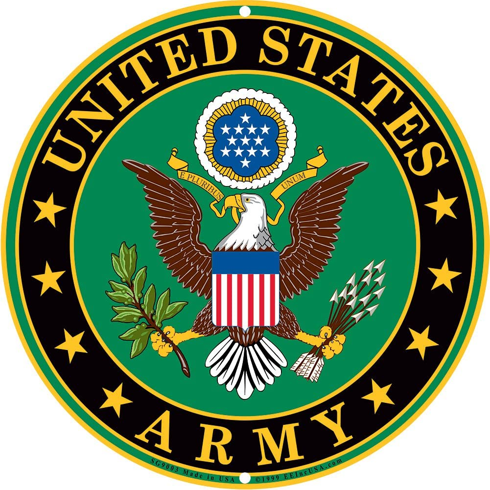 Amazon.com: Army Military Logo Aluminum Metal Sign - US Service Branch Home  Wall Decor: Home & Kitchen