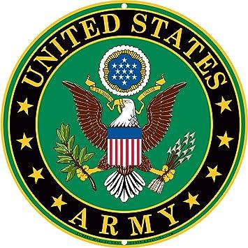 amazon com army military logo aluminum metal sign us service rh amazon com military logos vector graphics military logos vector