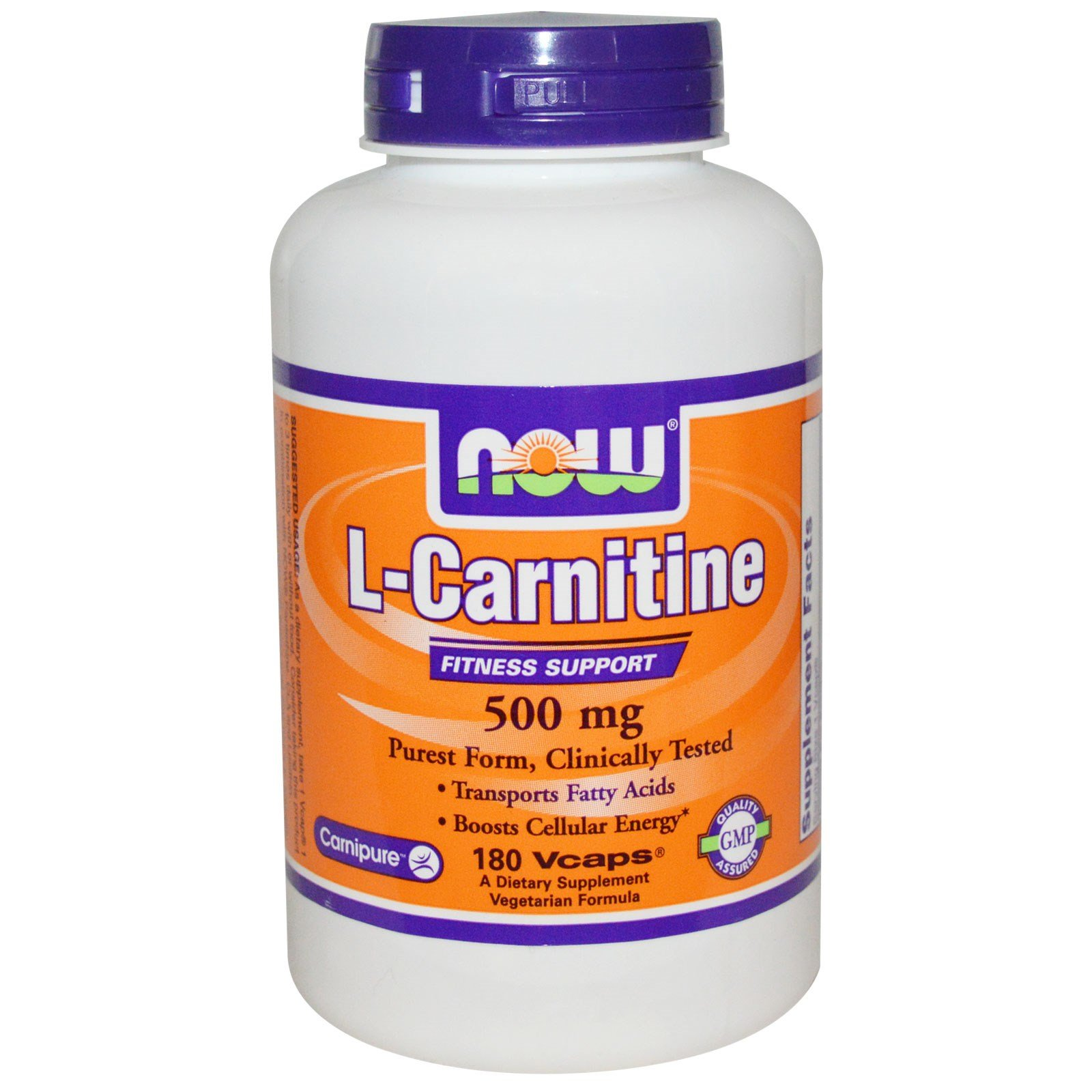 Now Foods, L-Carnitine, 500 mg, 180 Vcaps - 2PC