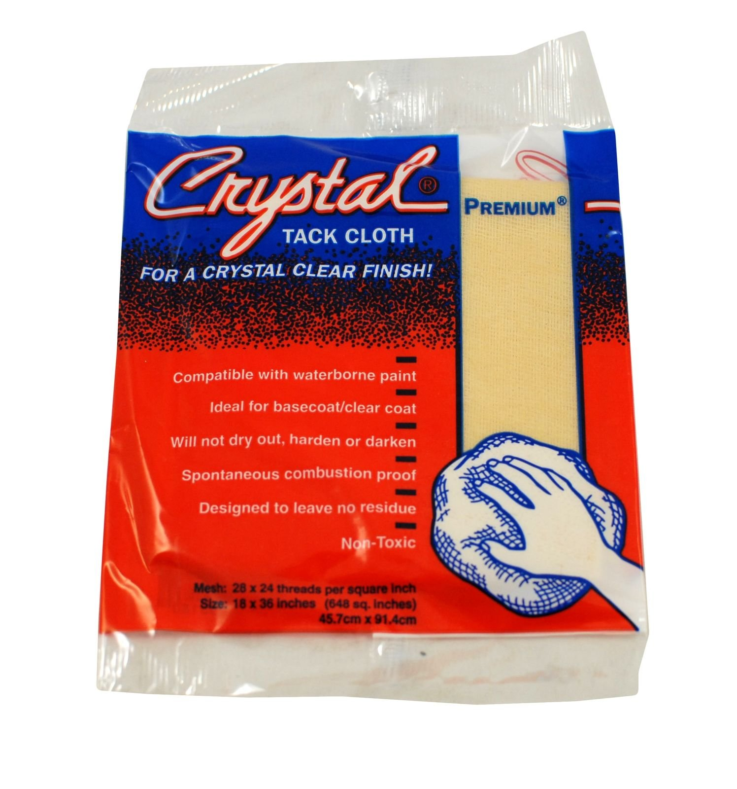 Bond Crystal Tack Cloth Premium (18'' x 36''), Case of 12 Boxes (144 Cloths Total) by Bond Corporation