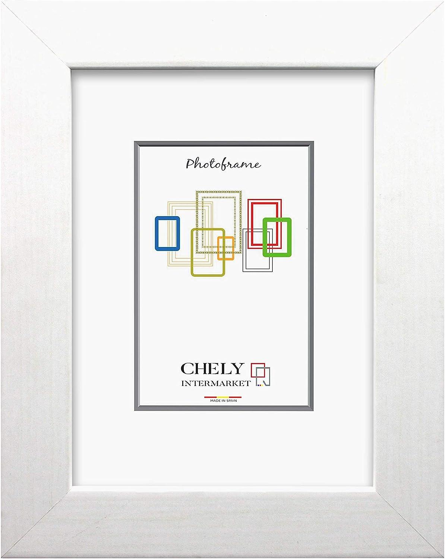 Chely Intermarket, Marco de Madera 40x50cm MOD-204 (Blanco) | Estilo Vintage | Marco de Fotos para decoración de casa | Fotografías de Boda | Fotos de Paisajes | Listado de Precio (204-40x50-0,95)