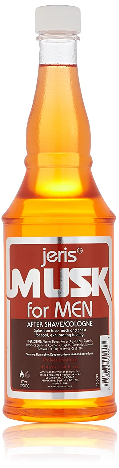 Clubman Jeris Musk After Shave Lotion/Cologne, 14-Fluid Ounce 929000