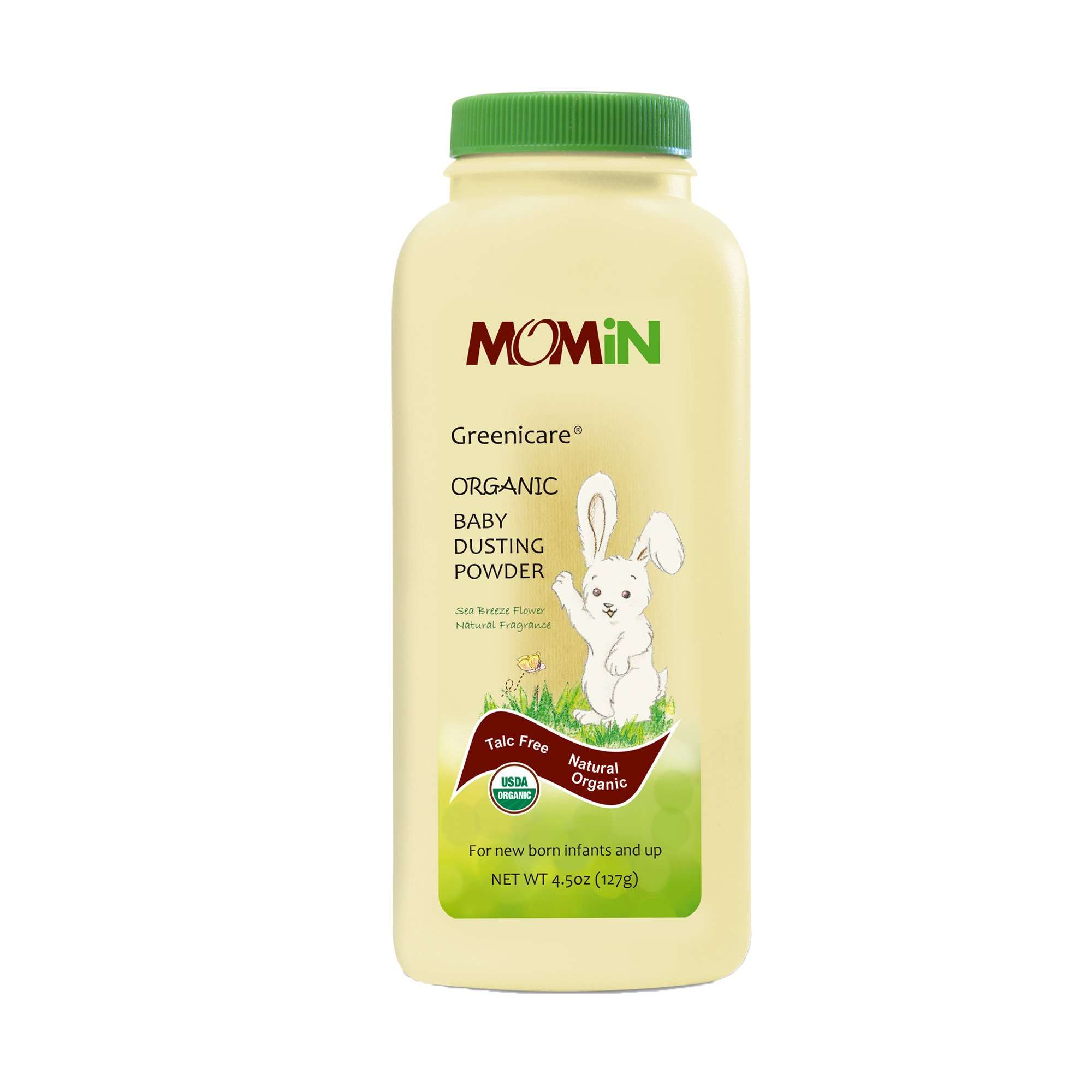 MOMiN USDA Organic Baby Dusting Powder, Talc-Free, with Calendula Extract & Vitamin E, 4.5 Oz by MOMiN