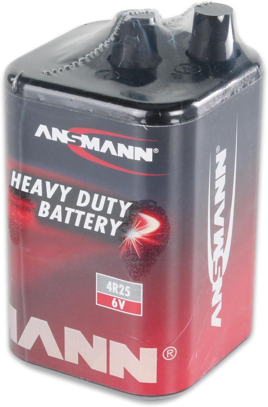 120 Stck Blockbatterie Trockenbatterie 6 Volt Bauleuchtenbatterie Batterie 4R25