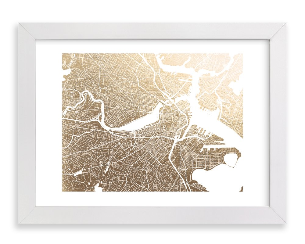 Minted Boston Framed Foil-Pressed Art Print