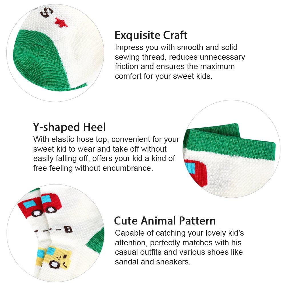 Kids Boys\' Fashion Cotton Crew Socks, Unisex Casual Mesh Socks for Boys Girls 5 Pack