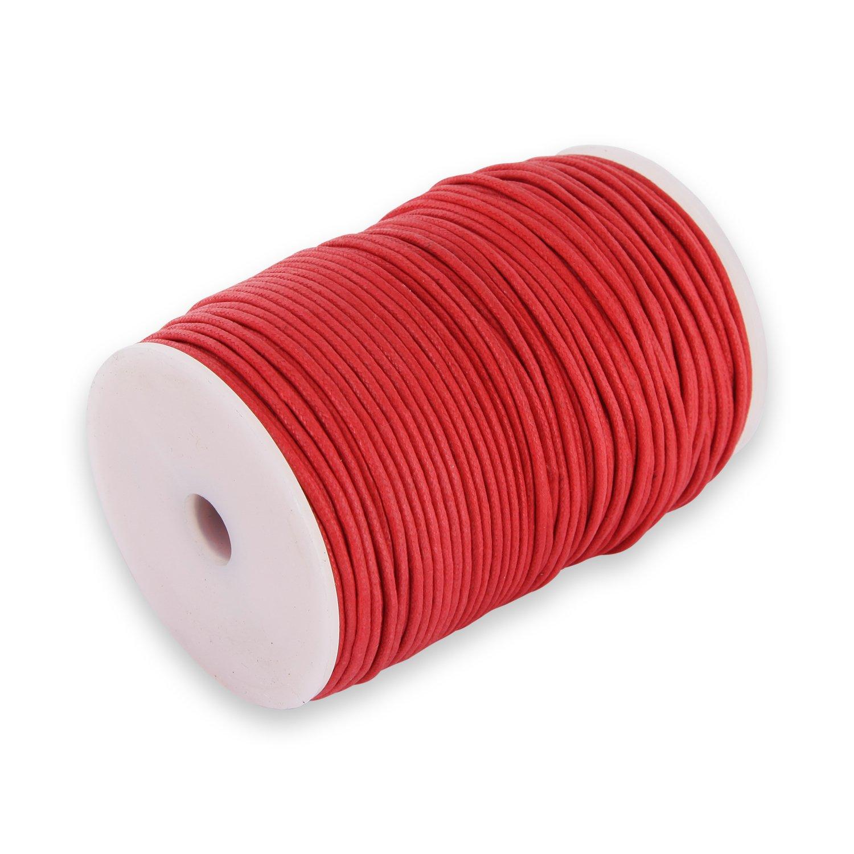 Auroris 100 m, rotolo di nastro in cotone, circa 1 mm, rosso 4250995609993