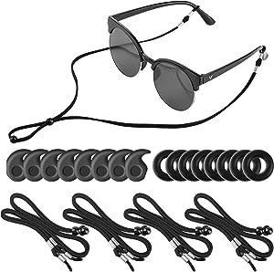 4Packs Eye Glasses Straps Sunglasses String Holder for Sports, Anti-slip Eyeglass Chains Lanyard, Adjustable Glasses neck Lanyard Retainer, Eyewear Retainer Rope