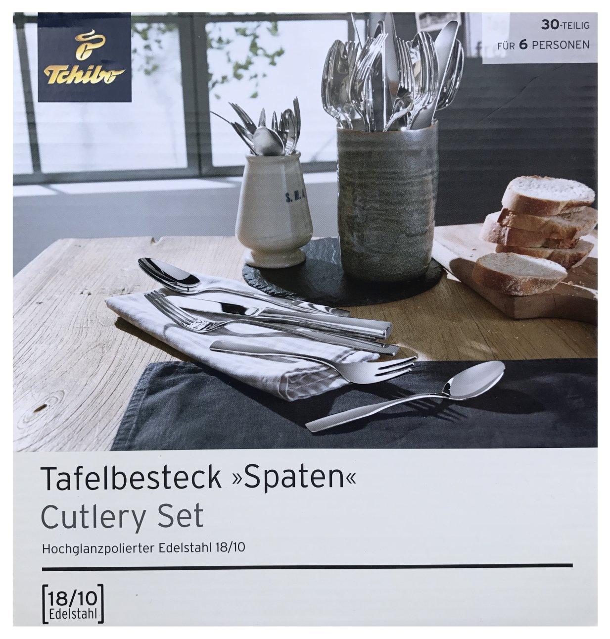 TCM Tchibo Tafelbesteck Besteck Set Essbesteck 30 tlg.6 Personen Edelstahl 18/10