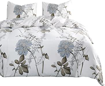 3pcs, Queen Size Reversible with Gray and Turquoise Soft Microfiber Bedding with Zipper Closure Grey Teal Duvet Cover Set Wake In Cloud