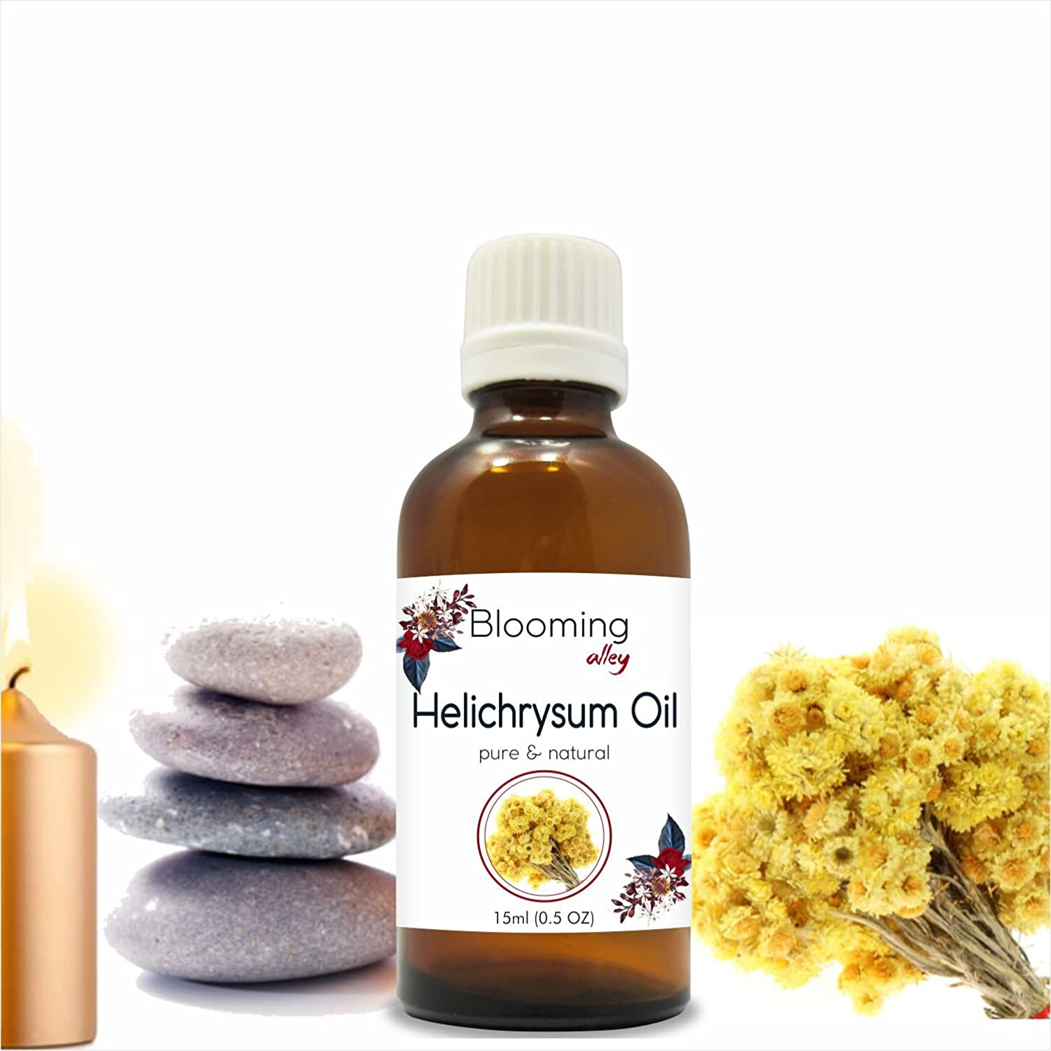 HELICHYRSUM Oil (Helichrysum Italicum) Essential Oil 15 ml by Blooming Alley (15ml) Salvia Pharmaceuticals