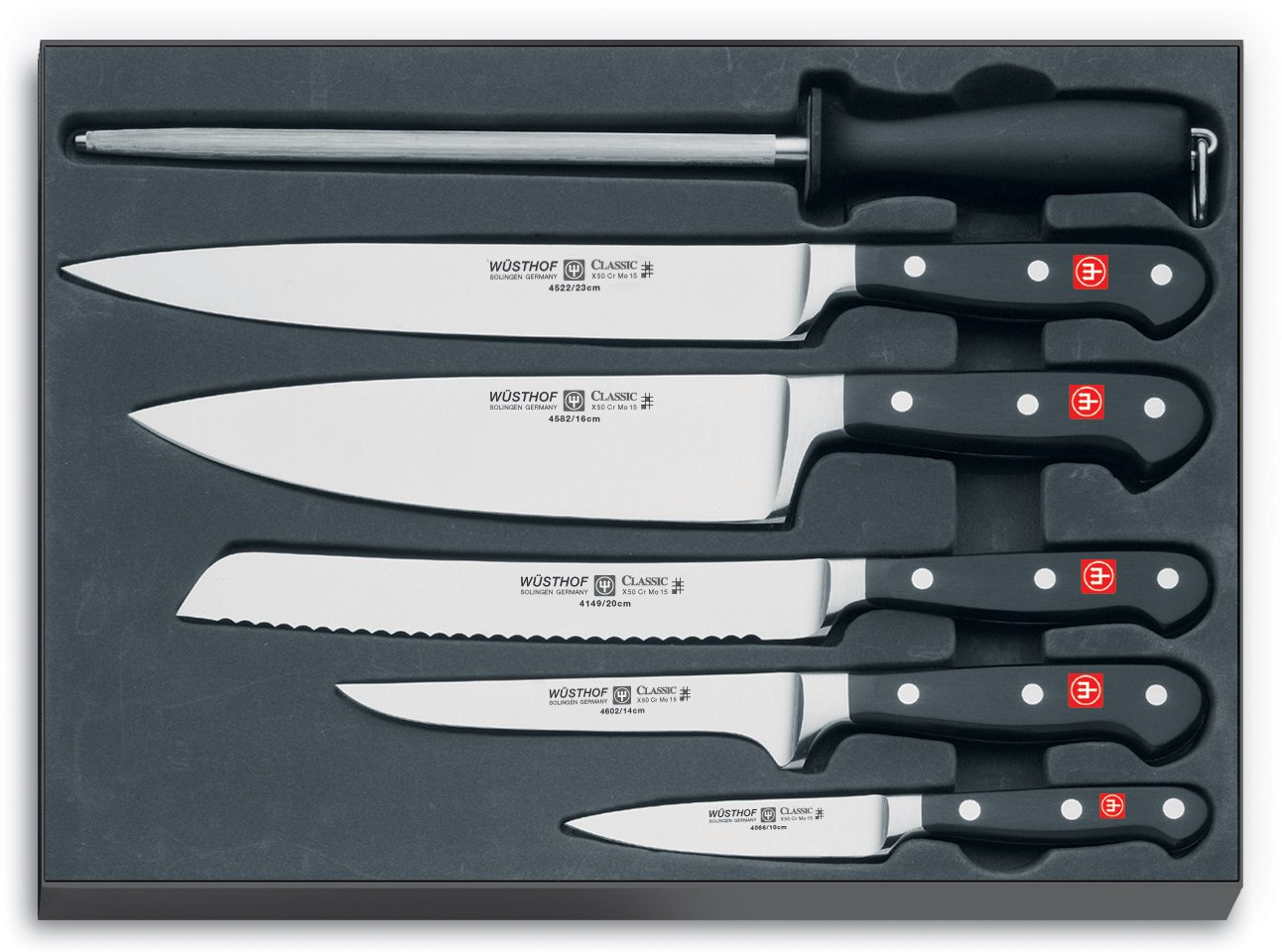 amazon com wusthof classic 6 piece chef knife set chefs knives