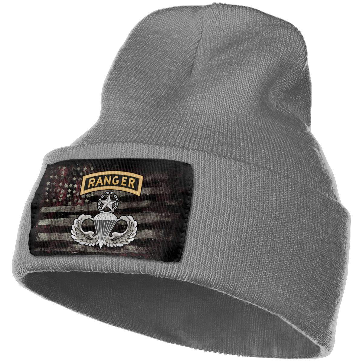 FORDSAN CP Master Parachutist with Ranger Tab License Mens Beanie Cap Skull Cap Winter Warm Knitting Hats.