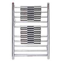 Tangkula 10 Bar Towel Warmer Drying Rack Wall Mounted Style Towel Heater