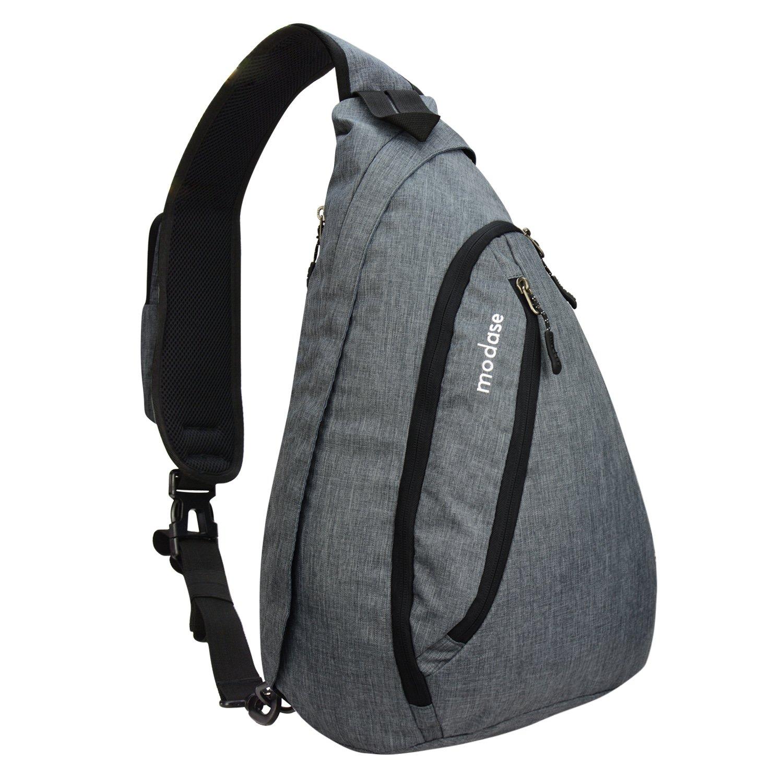 modase Sling Bag, Travel Chest Shoulder Backpack Crossbody Bags for Men - Water Resistant Outdoor Sling BackPack for Trekking Bicycle Sport Hiking Camping