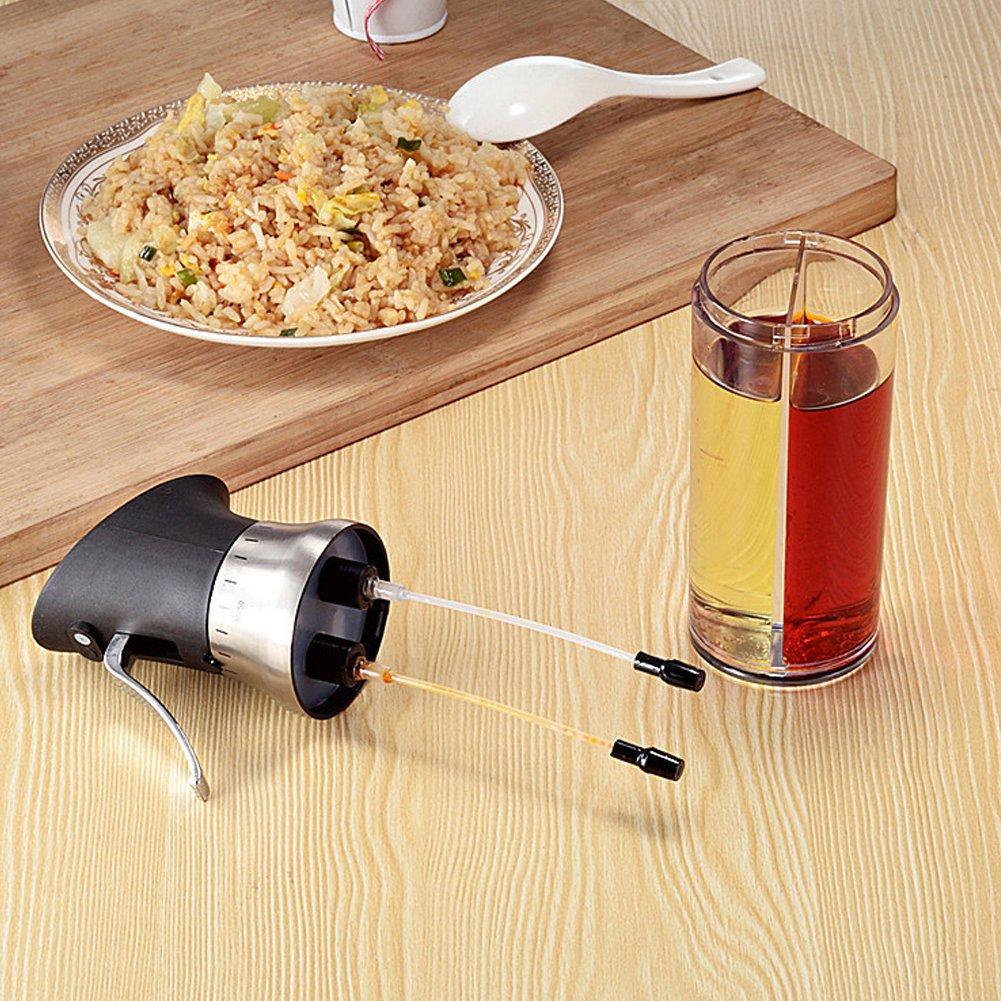 2-in-1/200/ml /Öl Mister Zwei Separate D/üsen f/ür Kochen Paste /Öl Essig-Spender Spritze Salate Grill BBQ