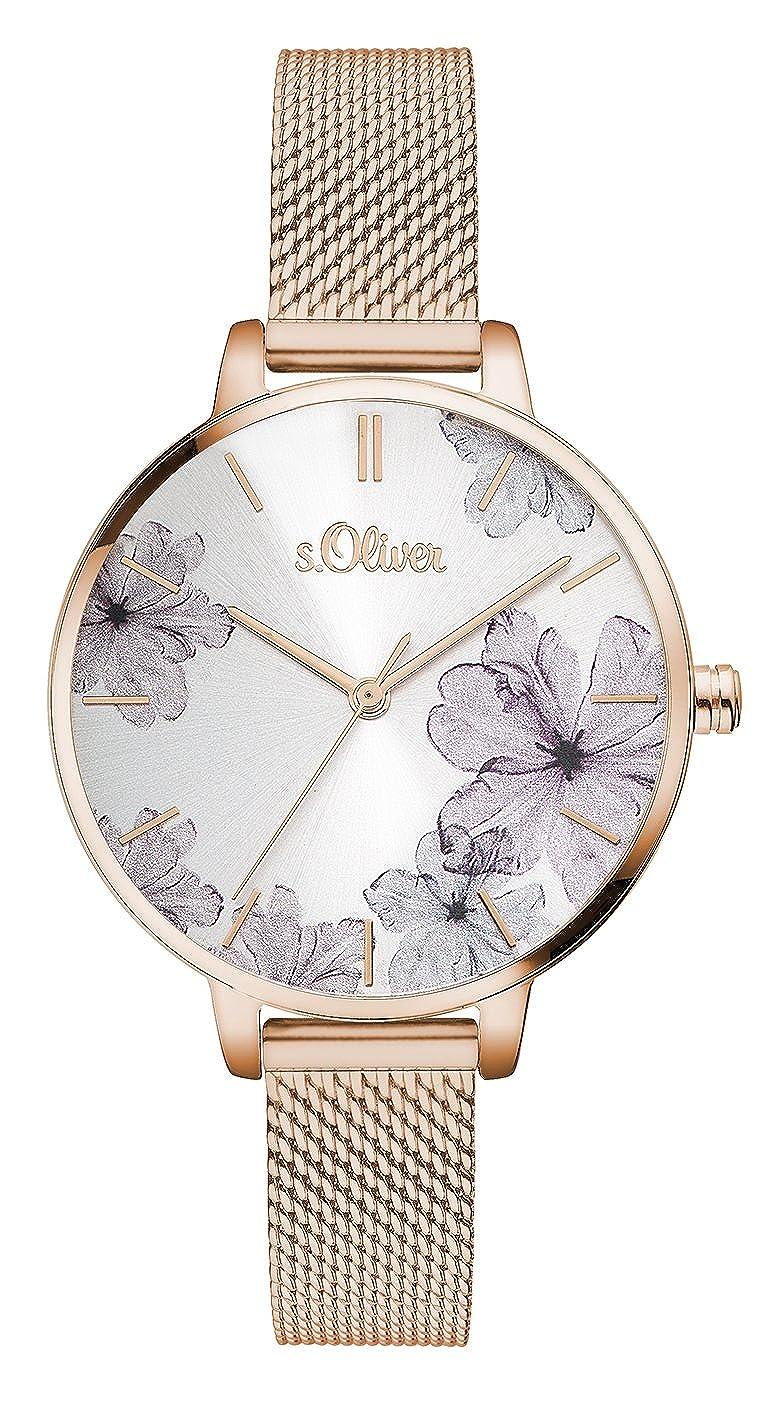 s.Oliver Damen Analog Quarz Armbanduhr
