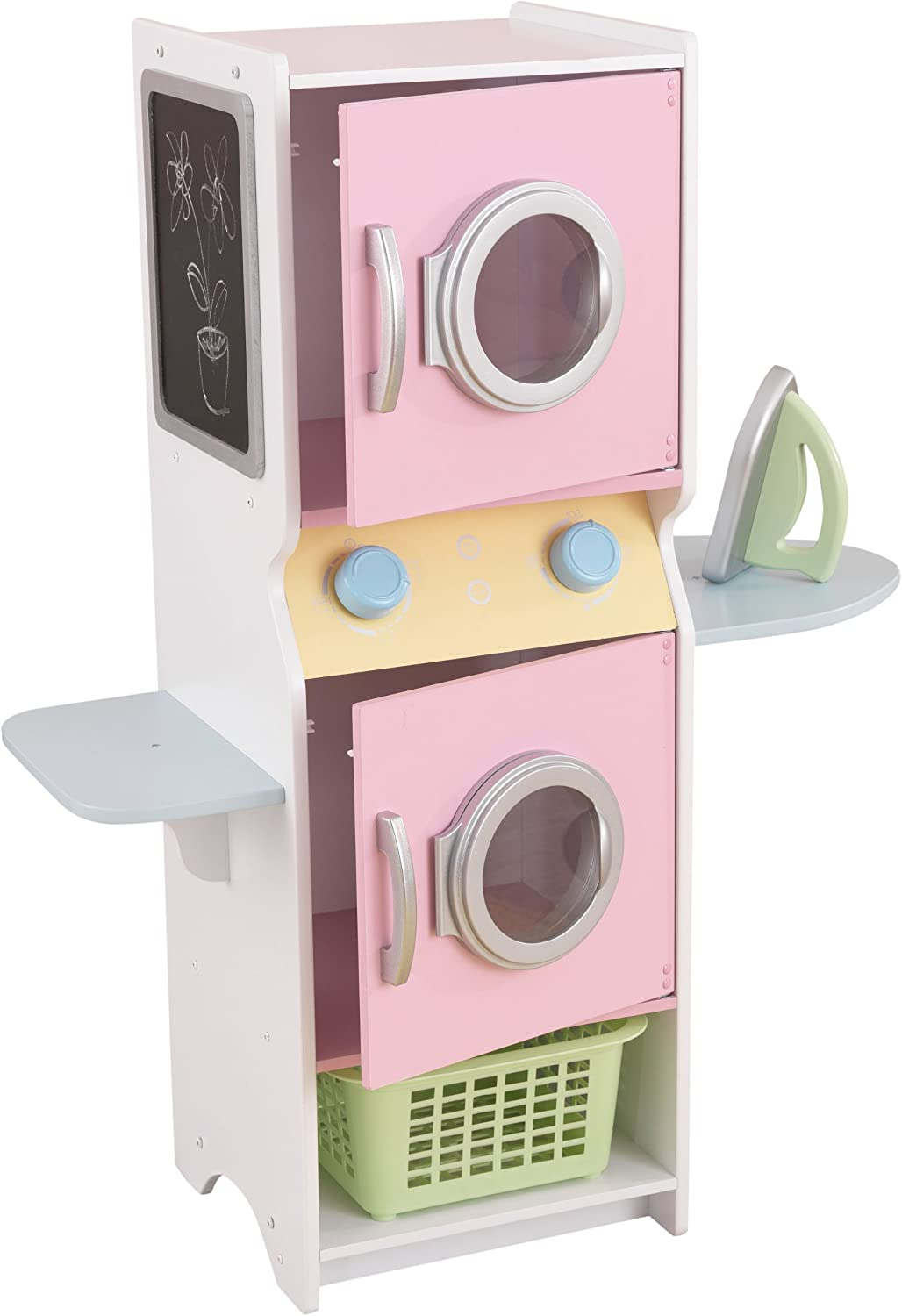 KidKraft Laundry Playset Children's Pretend Wooden Stacking Washer and Dryer Toy