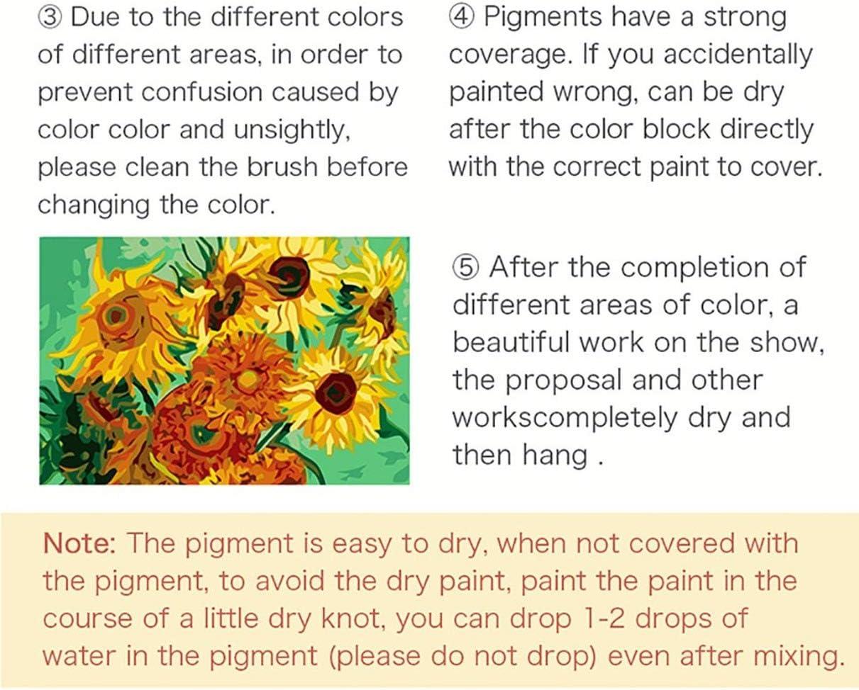 Frische der K/älte von Leonid Afremov 40x50 No Frame gogobest DIY Malen nach Zahlen Adult Child /Ölgem/älde Kit Creative Home Art Decor