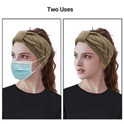 Winter Headband Thermal Bandana Ear Warm Sweatband Headwear Headwrap Womens Mens