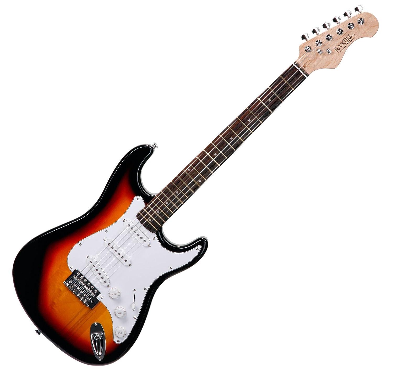 Rocktile Pack guitarra eléctrica ST sunburst (incl. ampli, funda, afinador, cable, correa, cuerdas): Amazon.es: Instrumentos musicales