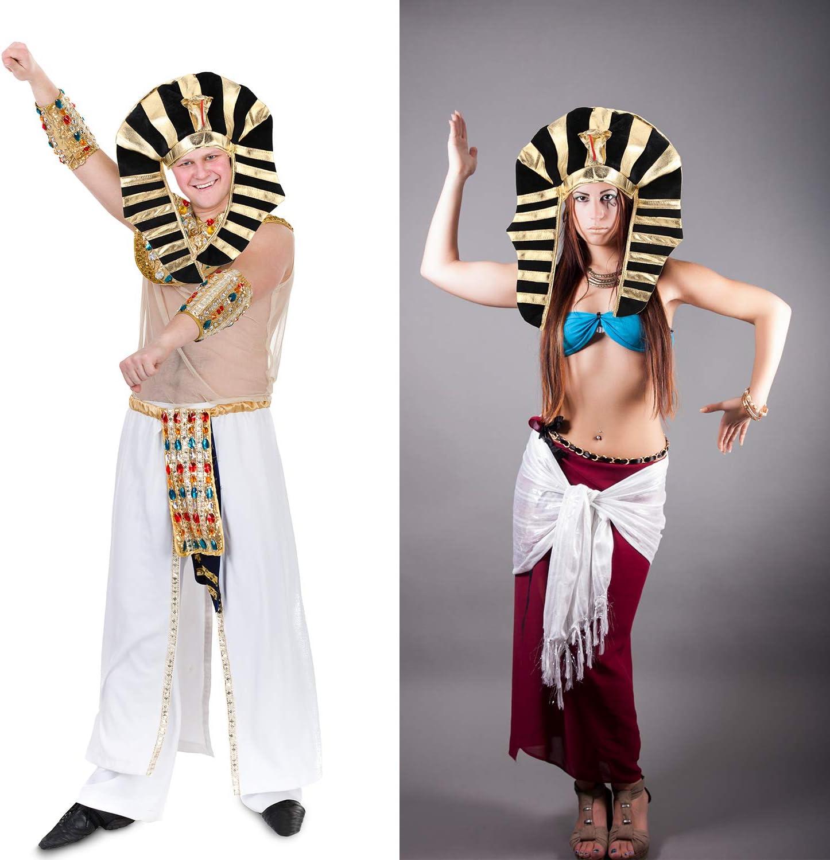 SATINIOR Chapeau de Pharaon Chapeau /Égyptien Costume de T/ête de Roi de Pharaon pour Hommes et Femmes
