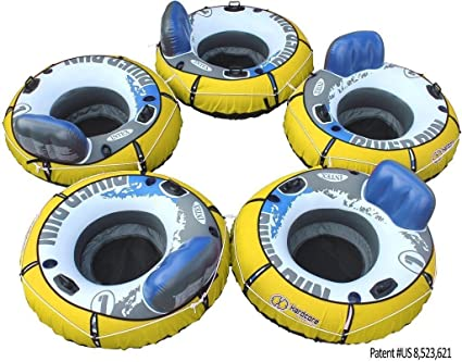 5 Pack Heavy Duty funda para Intex River Run hinchable flotador tubo tubos (se vende por separado) - 24870, Amarillo Neón: Amazon.es: Deportes y aire libre