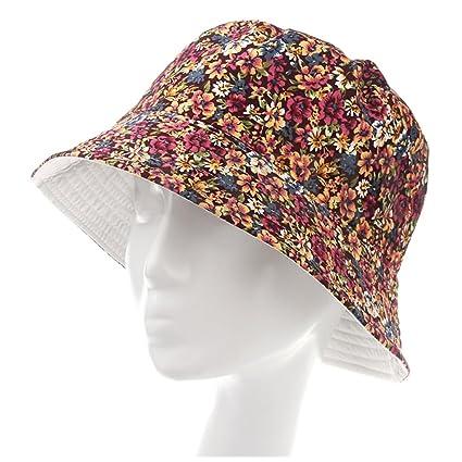 cdbf75c6c21 Amazon.com  HeroStore Women Men Bucket Hat Boonie Hat Hunting Fishing  Outdoor Cap Floral Summer Sun Hats Color  Kitchen   Dining