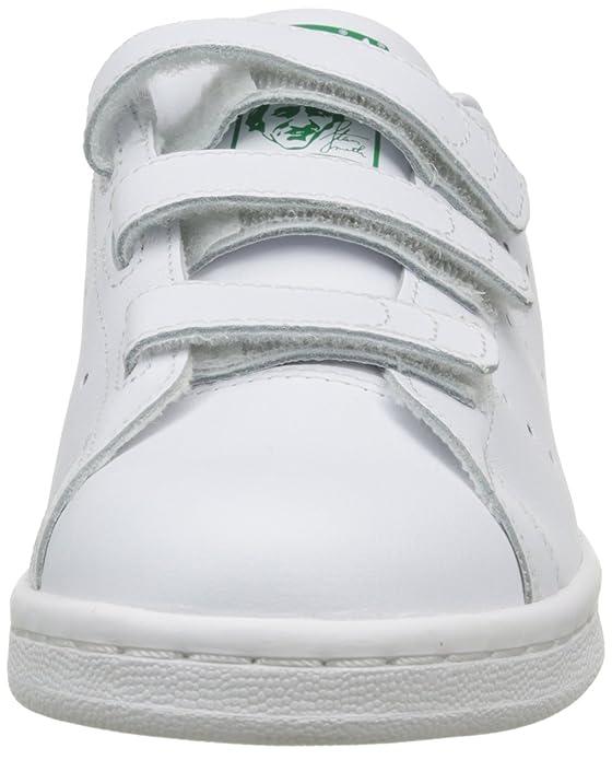 online store 706c1 fd3c9 adidas Unisex Kids Stan Smith Cloudfoam Gymnastics Shoes ...