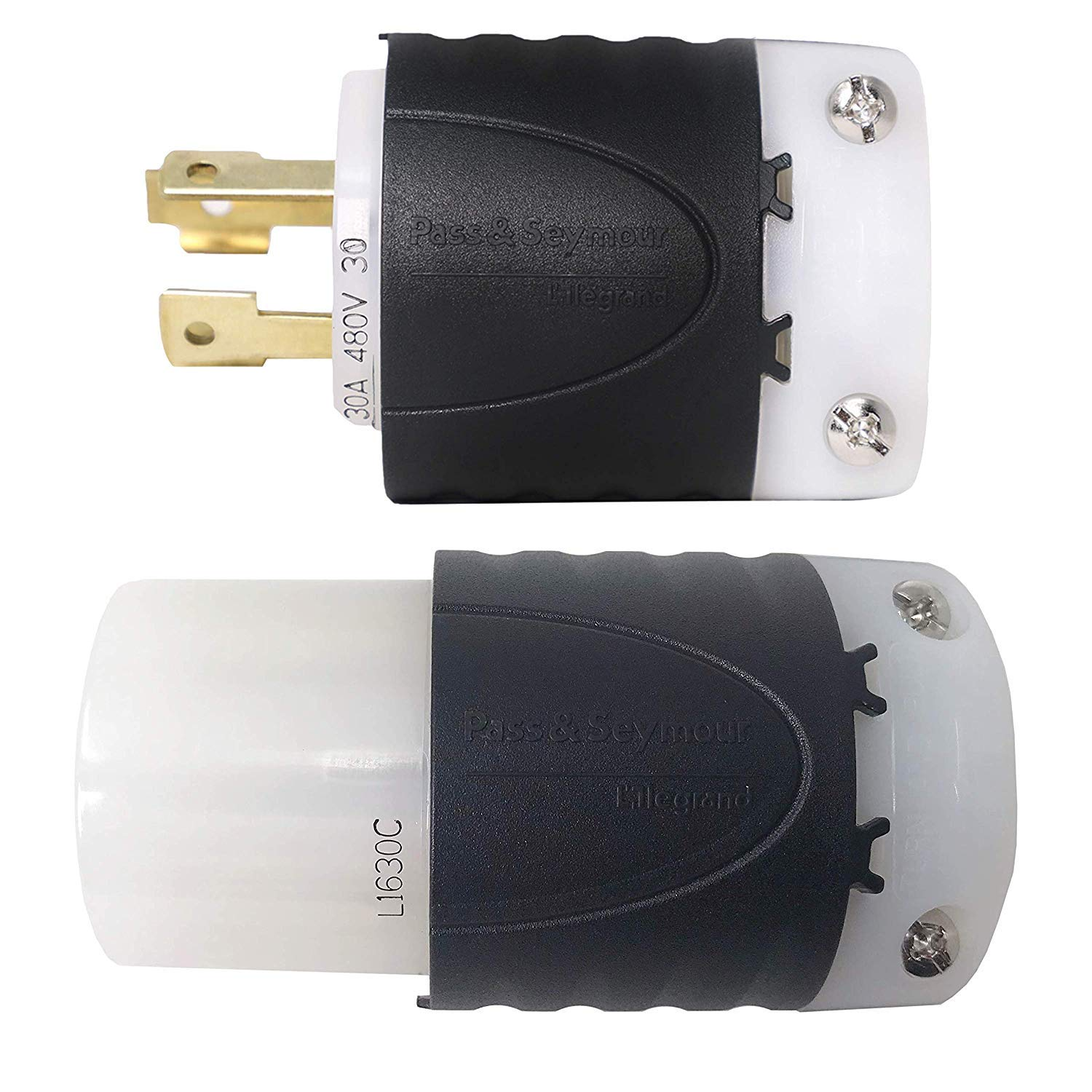 Iron Box Part # IBX-L1630PR 480V L16-30 Plug and Connector Set Rated for 30A 3-Phase