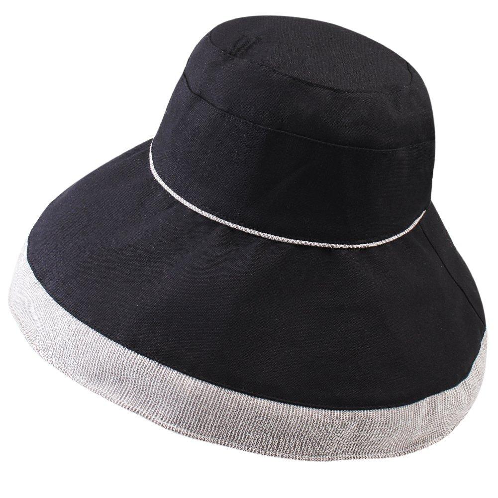 FURTALK Women s Sun Bucket Hat UPF 50 Cotton Fold up Wide Brim Summer Beach  Hat with Chin Cord at Amazon Women s Clothing store  464c2c468d76