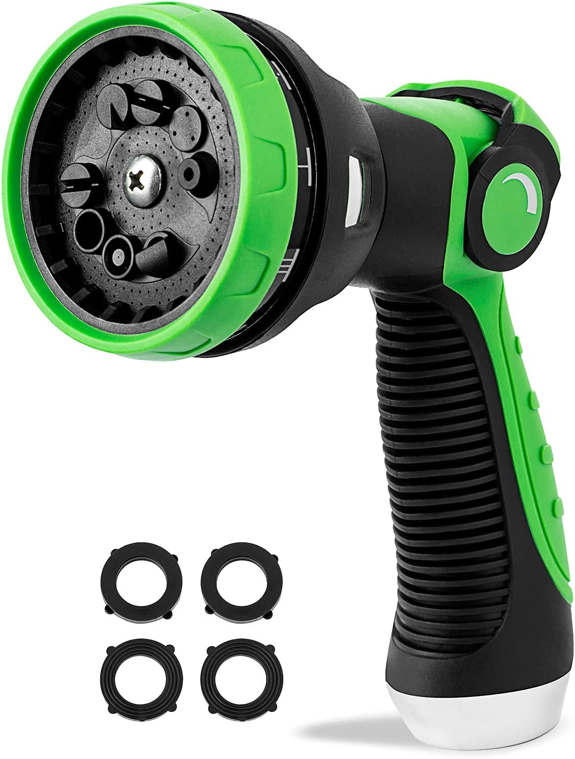 Garden Hose Nozzle Sprayer Thumb Control High Pressure Pistol Grip Easy Water Control- Hose Spray Nozzle Best for Watering Plants Cleaning & Car Wash/Features 10 Spray Nozzle