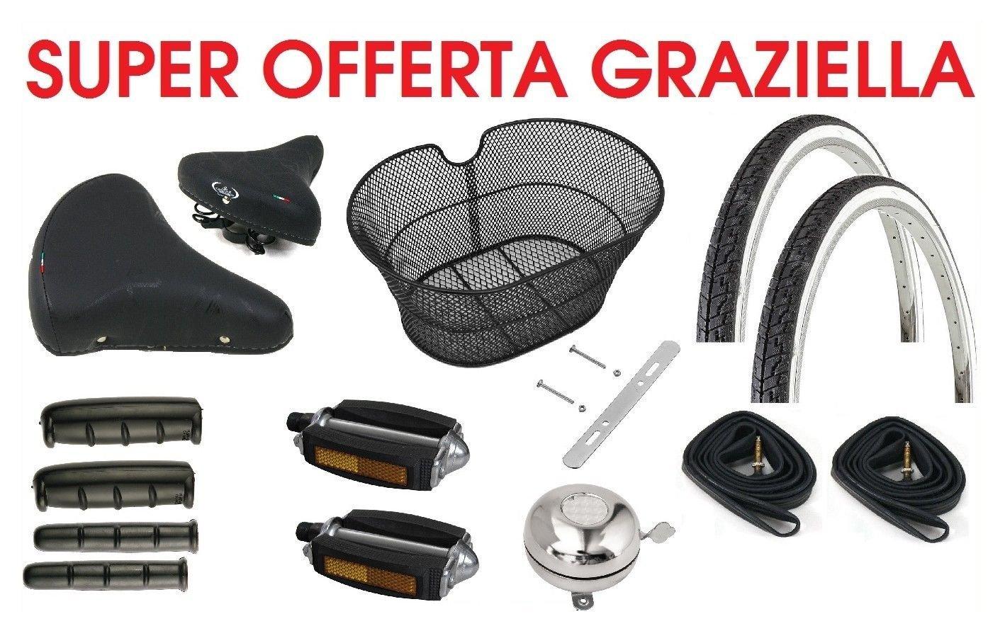 Kit 2 Tires 2 Inner Tubes White//Black Graziella Holland 20 x 1.75