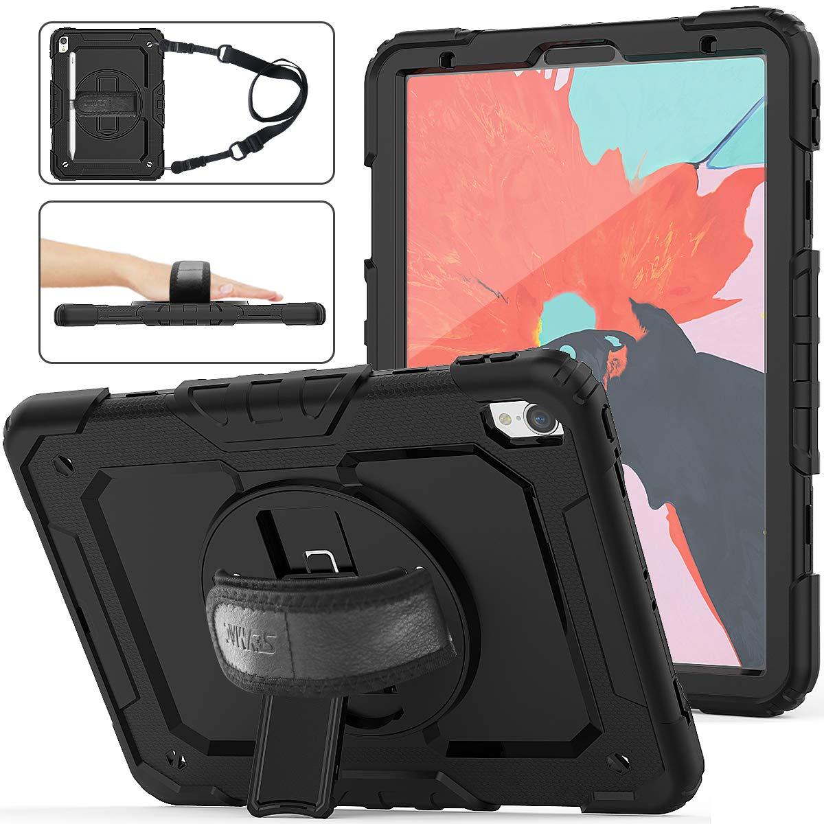 品質保証 SEYMAC 11bl Stock iPad iPad Pro 11ケース 3層ハイブリッド落下保護ケース [360度回転スタンド] ハンドストラップ & Y2SD-Pro [スタイラスペンホルダー] スクリーンプロテクター iPad Pro 11インチ 2018 A1934/A1980/A2013用 Y2SD-Pro 11bl B07NJL5SCC, 茶道具専門店 松風園まつの:c9cbdb68 --- senas.4x4.lt