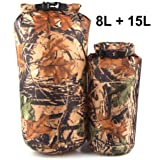 Aneil 8L Waterproof Dry Bag Camouflage Lightweight Compression Sack for Travel Floating Kayaking